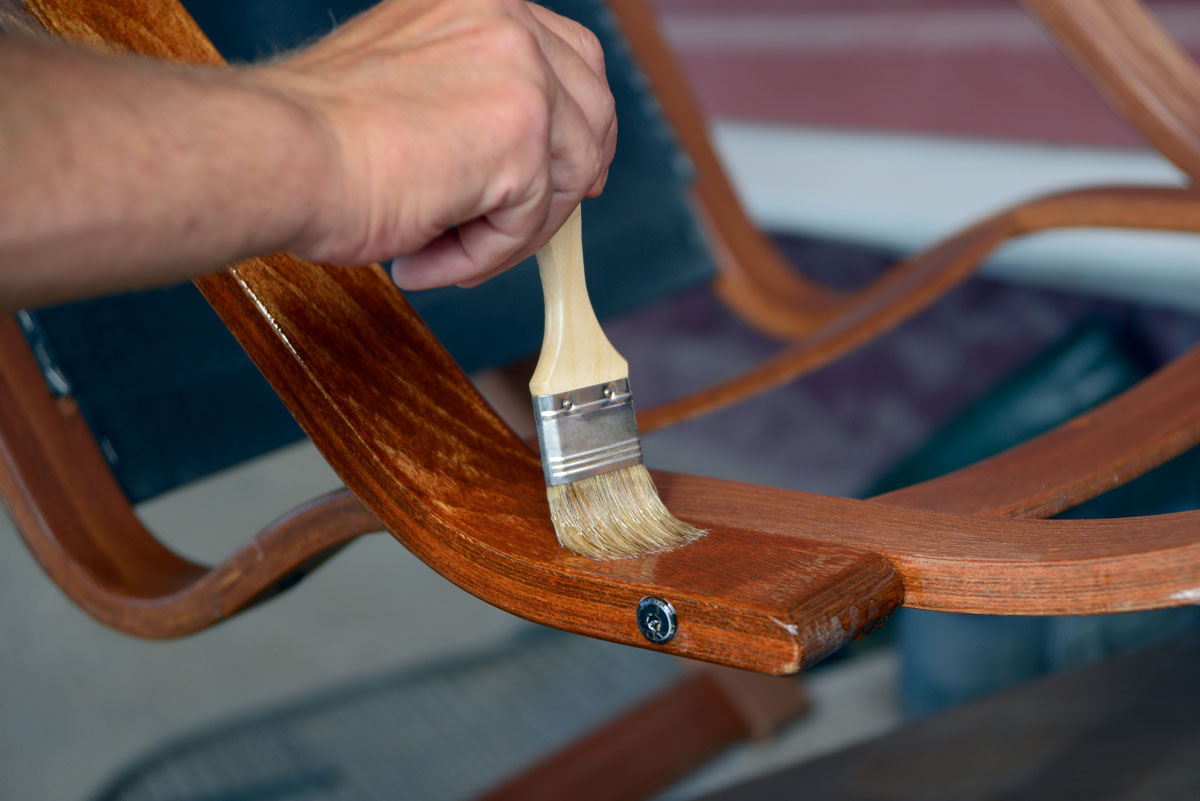 Restoration of wooden chairs