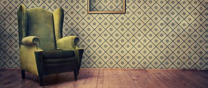 Pokój w stylu vintage